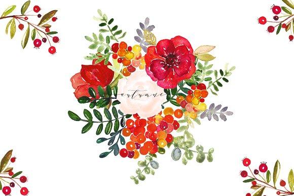 Autumn. Watercolor clip art. - Illustrations