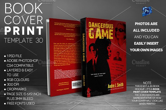 Book Cover Print Template 30