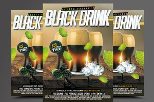 Black Drink flyer template