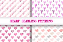 Abstract Hearts Seamless Patterns