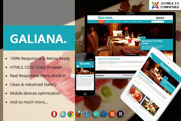 Galiana - Restaurant Joomla Template