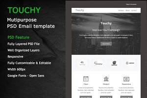 TOUCHY-PSD RESPONSIVE EMAIL TEMPLATE