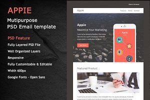 APPIE- PSD RESPONSIVE EMAIL TEMPLATE