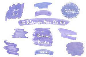Watercolor Strokes, Blobs, Splotches