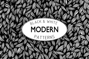 2 black and white modern patterns.