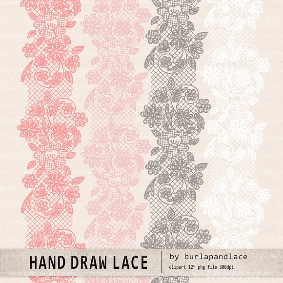 Lace wedding invitation.