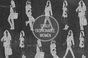 Chalk Fashionable Women