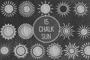 Chalk Sun Symbols
