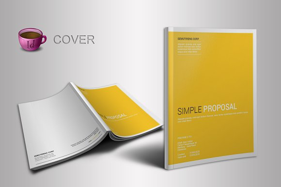 Indesign Proposal Template Brochure Templates Creative Market - Template for brochure
