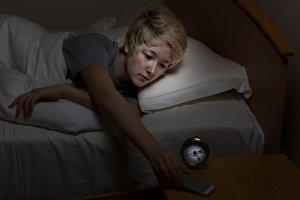 Teen Girl taking call late at night
