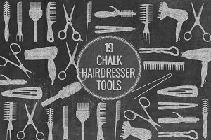 Chalk Hairdresser Tools