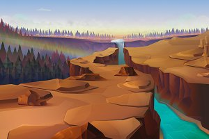 Canyon illustration
