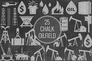 Chalk Oilfield Icons