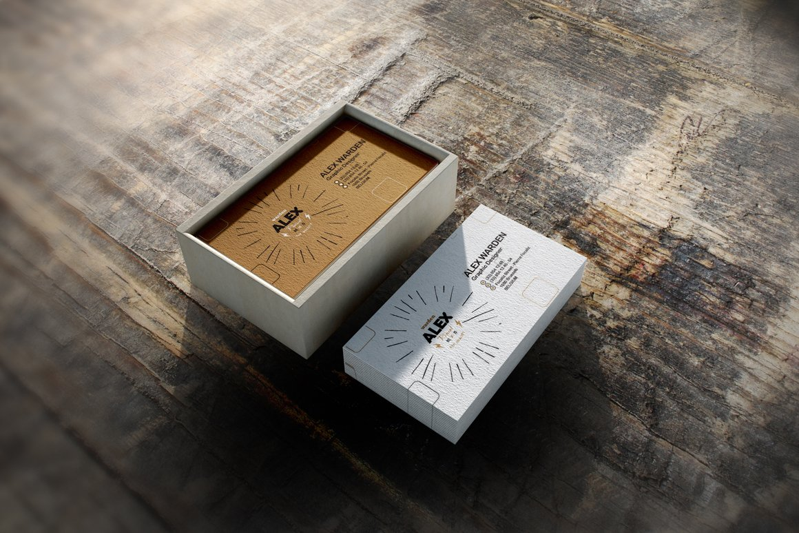 Business Card Box Mock-Up 4 ~ Product Mockups ~ Creative Market