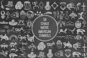 Chalk Native American Symbols