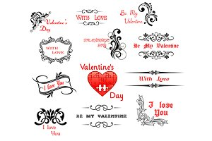 Love and Valentine' Day calligraphic