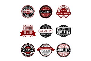 Premium quality and guarantee labels