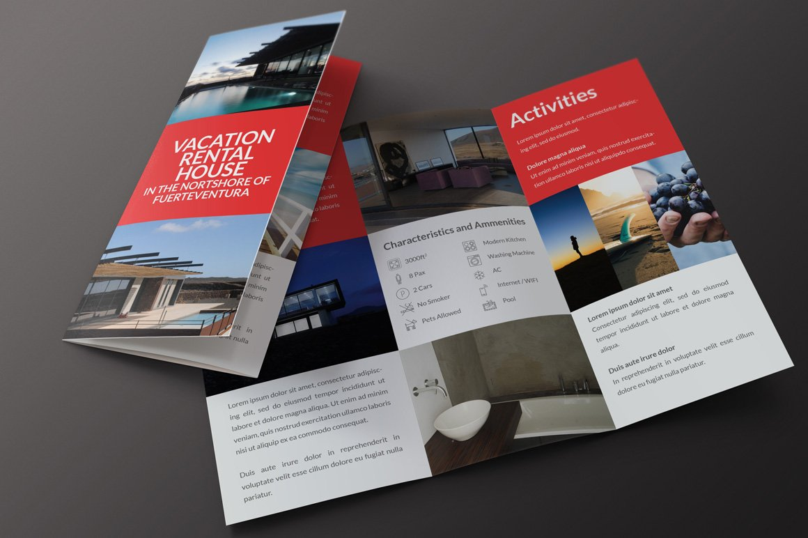 Rent My Home TriFold Brochure Brochure Templates Creative Market - Leasing flyer templates