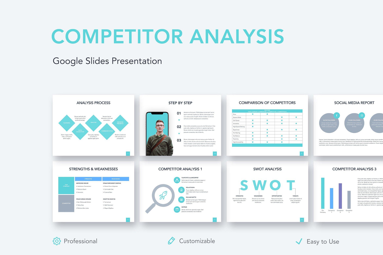Competitor Analysis Google Slides Creative Google Slides Templates Creative Market