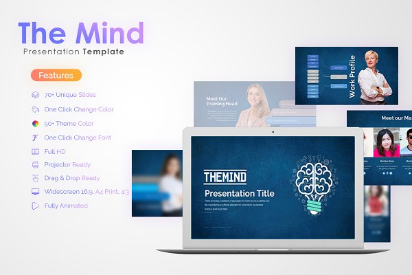 The Mind Power Point Template