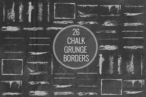 Chalk Grunge Borders