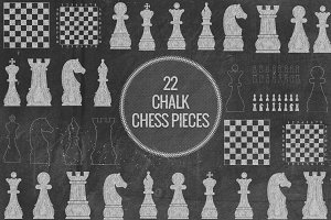 Chalk Chess Pieces