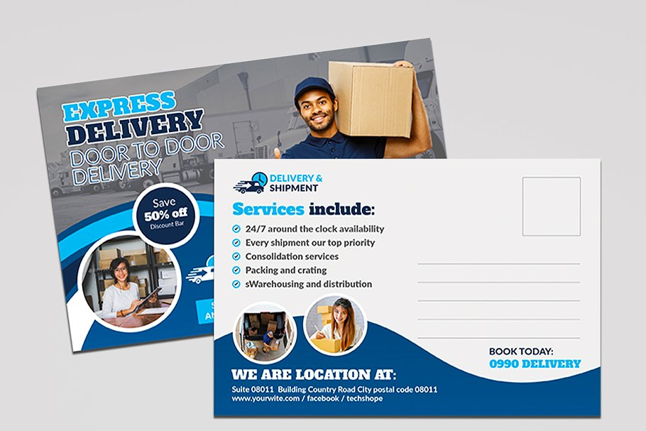 Delivery & Shipment Postcard