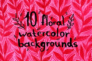 10 floral watercolor backgrounds