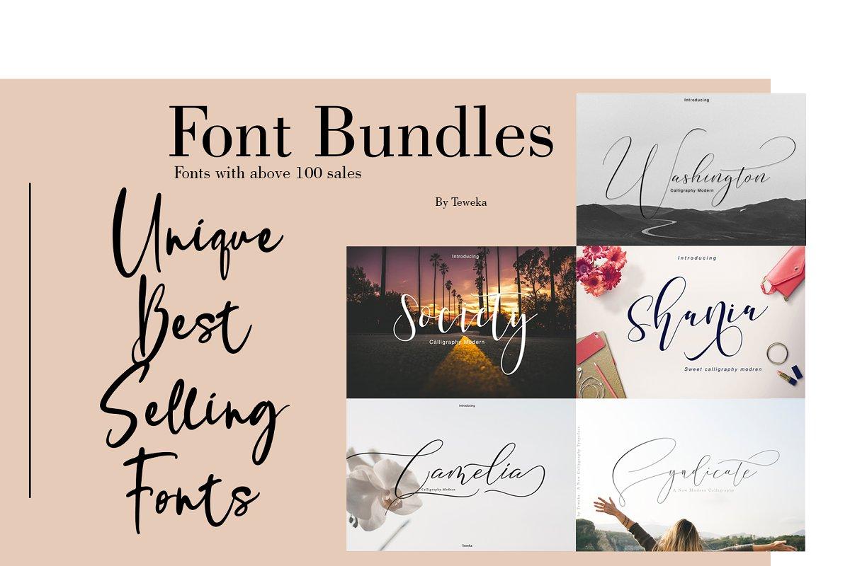 Best Seller Font Bundles in Script Fonts - product preview 8