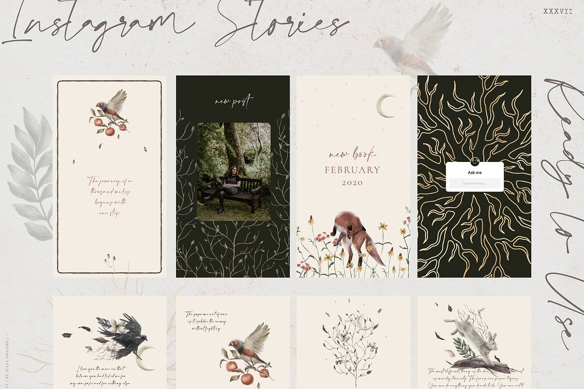 Stranger Forest Collection in Illustrations - product preview 5