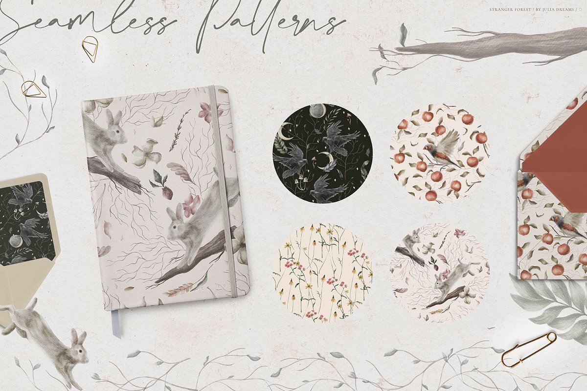 Stranger Forest Collection in Illustrations - product preview 6
