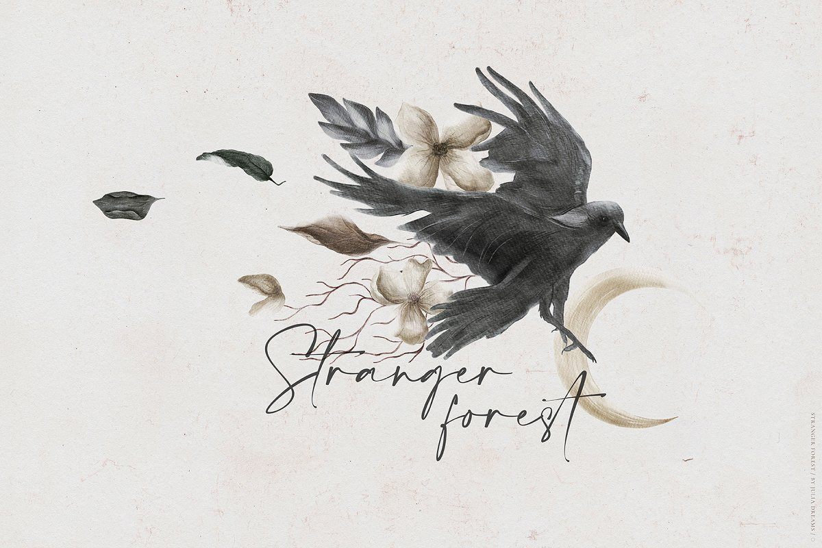 Stranger Forest Collection in Illustrations - product preview 11