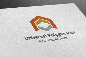 Universal Polygon Icon Logo