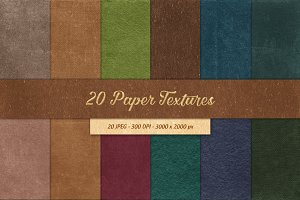 20 Paper Textures