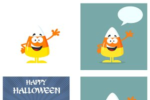 Candy Corn Flat Design Collection