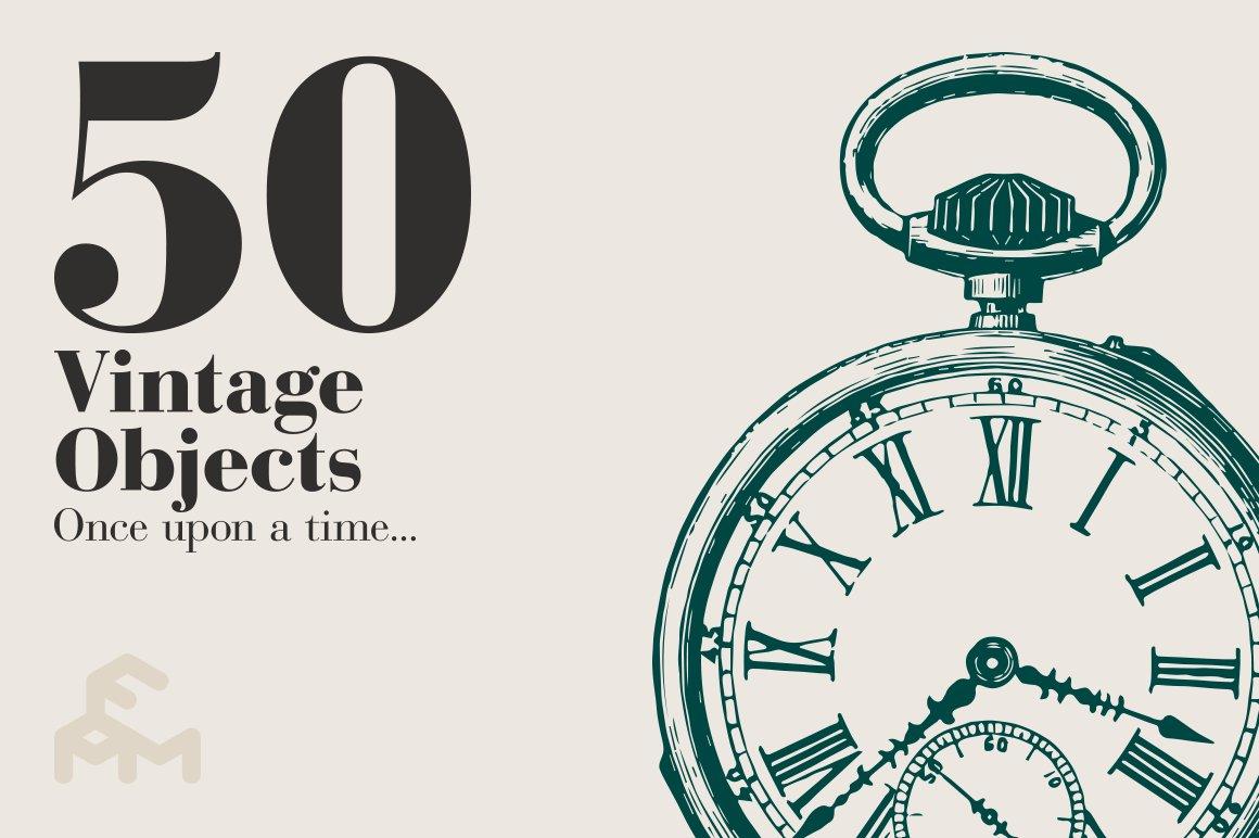 50 vintage objects illustrations creative market. Black Bedroom Furniture Sets. Home Design Ideas