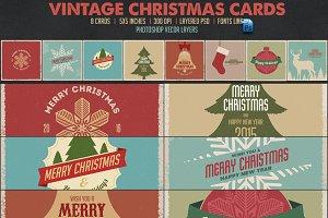 8 Vintage Christmas Cards