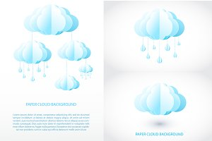 Paper cloud set