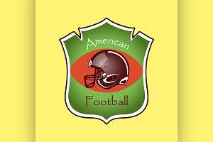 American Football logo and emblem