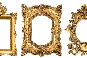 Golden picture frames JPG