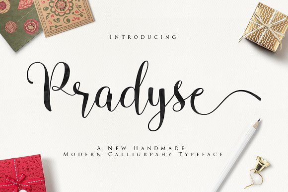 Pradyse Script Fonts Creative Market