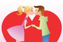 First kiss girl boy