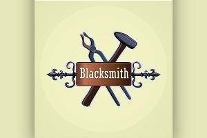 Hand drawn blacksmith labels