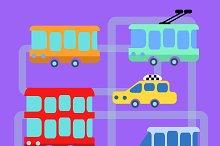 Collection urban public transport