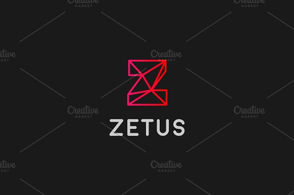 abstract trend letter z line logo logos