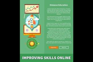 Improving Skills Online Concept