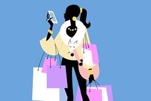Fashionista Shopaholic calls