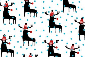 Christmas caribou pattern