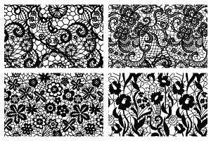 8 Lacy seamless vector patterns