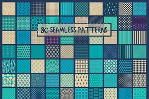 80seamless turquoise-purple patterns